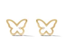 14kt 'Butterfly' Goldohrstecker mit Diamanten