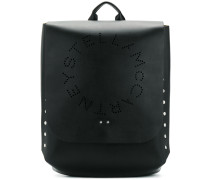 perforated logo backpack
