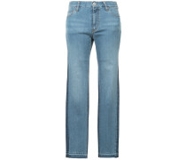two tone slim-fit jeans
