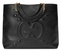 - Embossed GG leather tote - women
