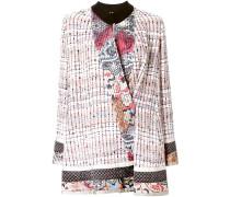 bouclé patchwork coat