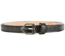 slim textured belt