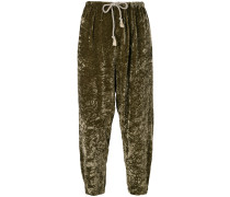 crushed velvet baggy trousers