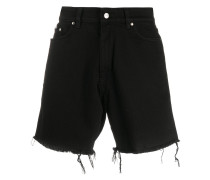 Shorts mit Distressed-Saum