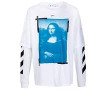 Langarmshirt mit Mona-Lisa-Print
