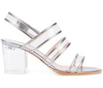 Sandalen mit transparentem Blockabsatz