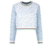 'Heart' Jacquard-Sweatshirt