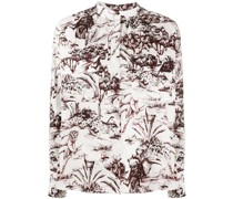 Bluse mit Dschungel-Print