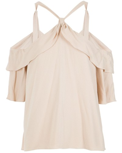 Bluse mit Cut-Outs an den Schultern