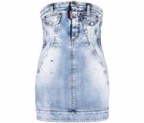 Schulterfreies Denim-Kleid