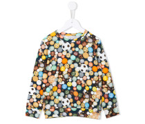 ball print sweatshirt