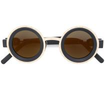 two tone round sunglasses