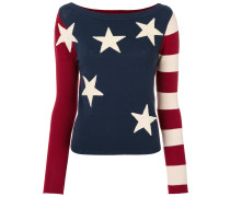 Pullover mit Flaggenmuster