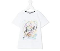 T-Shirt mit Graffiti-Print - kids - Baumwolle