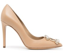 Hailey crystal-embellished 100mm pumps