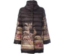 paisley print padded jacket