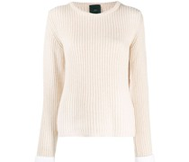 Gerippter Pullover mit Cut-Outs