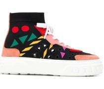 Gestrickte High-Top-Sneakers