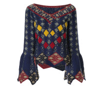 'Solitaire' Pullover mit Steppmuster