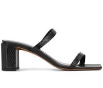 Tanya snake-print sandals