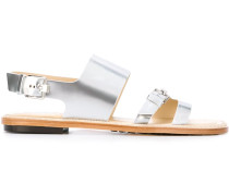 Slingback-Sandalen mit Schnalle