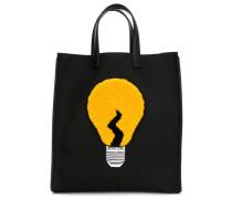 Shopper mit Glühbirnen-Applikation