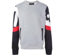 printed sleeves sweatshirt
