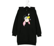 cartoon print hoodie dress