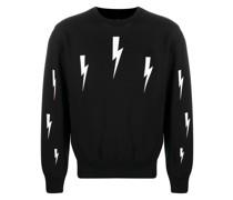 Sweatshirt mit Blitzen
