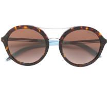 Tiffany & Co. Runde Sonnenbrille in Schildpattoptik