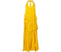 jacquard ruffle long dress
