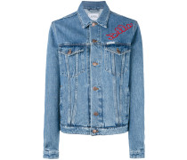 - embroidered denim jacket - women - Baumwolle