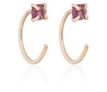 raw spinel hug hoop earrings