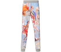 baroque print sweatpants