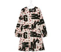 Kleid mit Katzen-Print