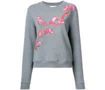 Sweatshirt mit floraler Stickerei - women