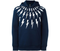 lightning print hoodie
