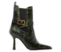 'Naomy 90' Stiefel mit Kroko-Effekt