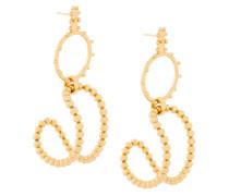 Vergoldete 'STBC' Ohrringe mit Perlen