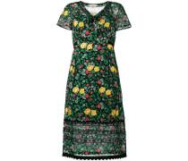 floral print semi-sheer dress