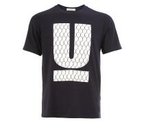 'U' T-Shirt mit Logo-Print
