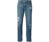 Boyfriend-Jeans mit Distressed-Effekt