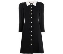 A-Linien-Kleid mit Kontrastkragen
