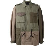 Jacke im Patchwork-Stil - men - Baumwolle/Nylon