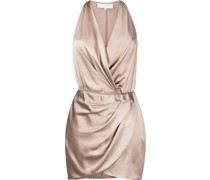 Neckholder-Kleid aus Seide
