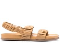 Slingback-Sandalen mit Raffung