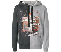 contrast panel hoodie