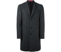 Einreihiger Tweed-Mantel