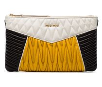 Quilted Contrast Clutch Bag