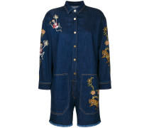 embroidered denim jumpsuit